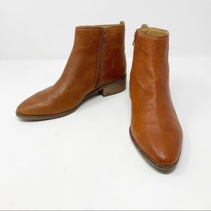 Lucky Brand Lenree Leather Ankle Booties Sz 9